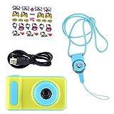 Kinderkamera, Mini Cute 2 Zoll Bunter Bildschirm HD 1080P Kinder Kinder Spielzeug Digitale Videokamera(Blau)