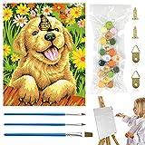 Pintar por Numeros Animales,Pintar con Numeros,Cuadros por Numeros,Pintar Niños para Regalos, Juguetes Educativos, Decoración del Hogar