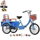 Älteres Dreirad für Erwachsene, 3-Rad-Fahrrad für Menschen mit Rücksitzen und Armlehnen, eine...