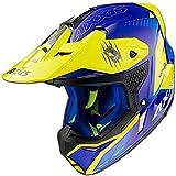 Casco Axxis Wolf StarTrack Azul Mate - Motocross 2021- Enduro (M)