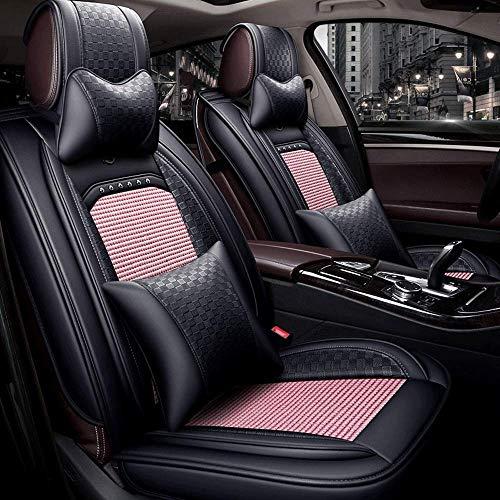 SAMER Auto Stoelhoezen Voorste Paar Universele Autostoel Beschermers voor Bestuurder en Passagier Air Bag Compatibele Automotive Accessories Interieur roze