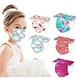 3 Ply Kids Disposable Face_Masks with Designs, 50Pcs Printed 3D Disposable_Masks with Nose Wire for Boys Girls School Outdoor (MIX COLOR_02)