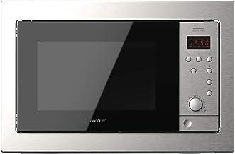Cecotec Microondas encastrable Digital GrandHeat 2500 Built-In SteelBlack. 900W, Integrable, 25 litros, Grill, Quick start, 8 funciones preconfiguradas, Temporizador