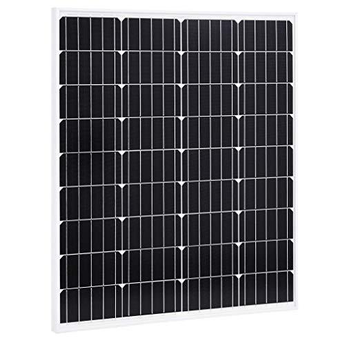 N/O Viel Spaß beim Einkaufen mit Solarmodul 80 W Monokristallin Aluminium und Sicherheitsglas