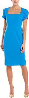 Donna Morgan womens Tulip Sleeve Square Neck Crepe Sheath Dress Dress