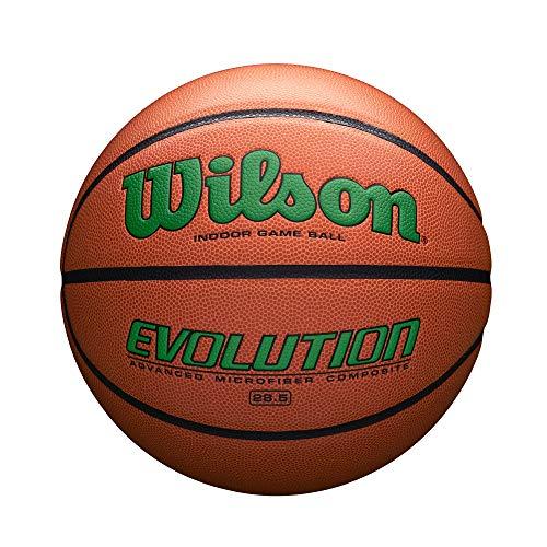 Wilson Sporting Goods Intermediate, Size 28.5, Green Wilson Evolution Indoor Game Basketball