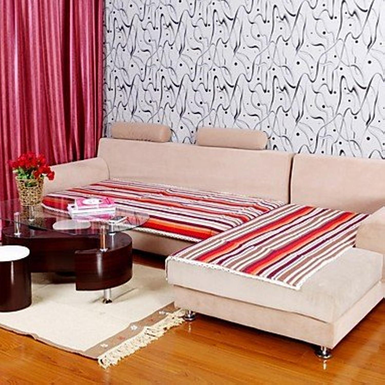 WWQY Pure Cotton Purple Stripe Sofa Cushion 333725