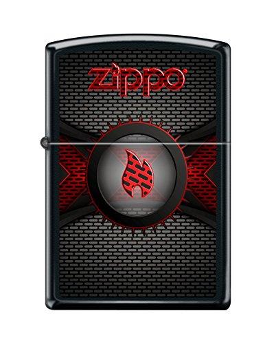 Zippo Brick Wall Black Matte Windproof Pocket Lighter New -  218CI403728