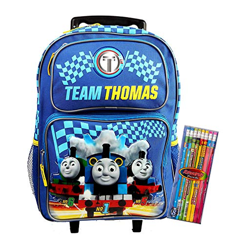 Thomas Backpack Team Thomas and Friends Train Engine Backpack Everyday Bag All Purpose (16 Inch Rolling)
