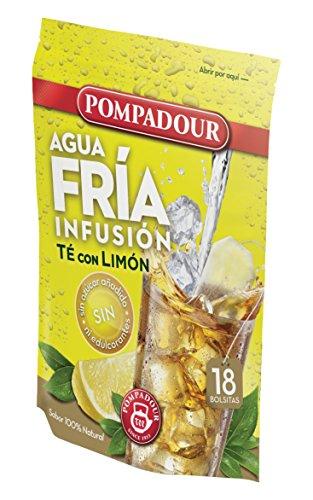 Pompadour Té Infusion Limón Frío - 18 bolsitas