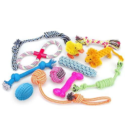 RoyalCare Dog Toys 12 Pack Gift Set, Ball Rope and Chew Squeaky Toys for...