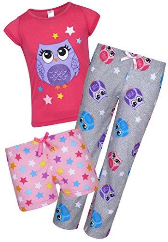 Sleep & Co Girl's 3-Piece Spring Pajama Set, Owl, Size 10'