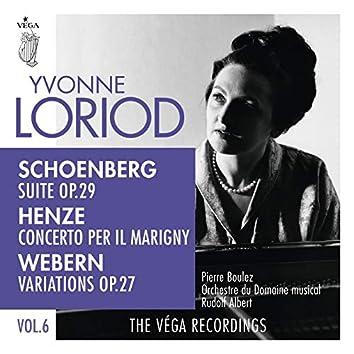 Schoenberg: Suite, Op. 29  / Henze: Concerto per il Marigny / Webern: Variations, Op. 27