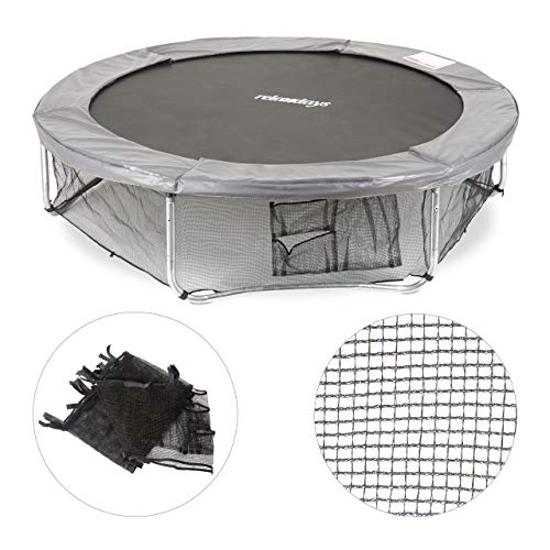 Relaxdays Unisex-Youth Garden Trampoline Frame, Ground Security Netting, Accessory for Round Bouncers, Ø 182cm, Black, Medium