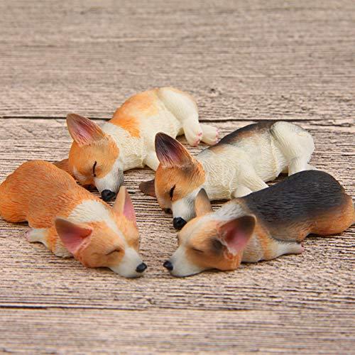 NAMIYAフィギュア マグネット 犬 飾り 装飾 わんこ リアル 本物そっくり 磁石 4点セット (コーギー 4匹)