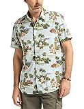 Pioneer Shirt All Over Print Camisa Casual, Verde (Cypress 638), L para Hombre