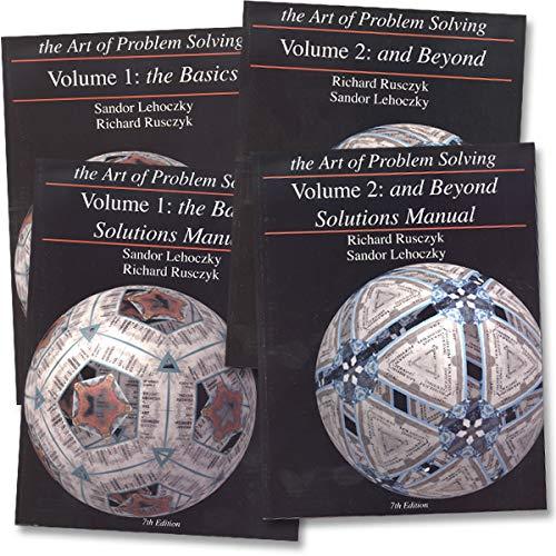 Art of Problem Solving: Vol 1 & Vol 2 Texts & Solutions Books Set (4 Books) - Volume 1 Text, Volume...