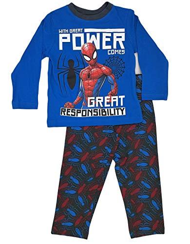 Spiderman Pijama Infantil niños 2 Piezas 100% algodón