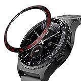 MoKo 2 PZS Anillo de Bisel Compatible con Samsung Gear S2/Galaxy Watch 42mm/Gear Sport, no para Gear s2 Classic, Smart Watch Cubierta de Acero Inoxidable Antiarañazos Protector - Negro + Negro