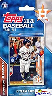 Houston Astros 2020 Topps Baseball EXCLUSIVE Special Limited Edition 17 Card Complete Factory Sealed Team Set with Yordan Alvarez ROOKIE, Alex Bregman, Jose Altuve & More Stars & Rookies! WOWZZER!