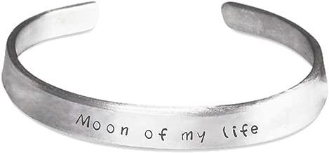 sarothdesignstore Game of Thrones Valentine's Day Bracelet - Moon of My Life - Khaleesi Khal Drogo Lovers Gift