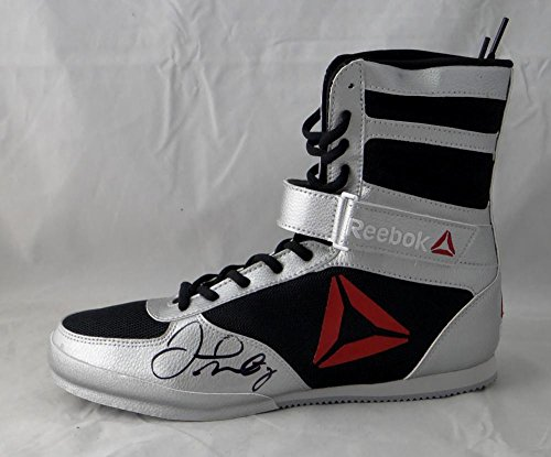 Floyd Mayweather Autographed Reebok Boxing Shoe Left Beckett BAS *Black* - Beckett Authentication - Autographed Boxing Equipment