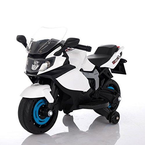 Moto Racer ATAA eléctrica batería 6v - Blanco - Moto eléctrica para niños de hasta 5 años. Batería 6v Coche electrico niños