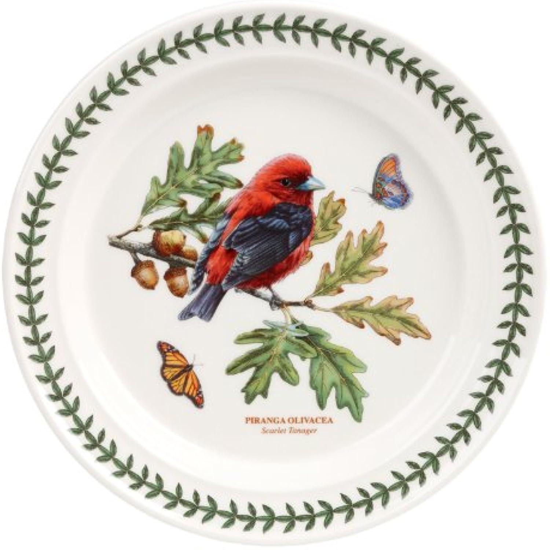 PORTMEIRION BOTANIC GARDEN BIRDS Dinner plate scarlet tanager