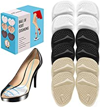 (12 Pieces) Metatarsal Pads for Women   Ball of Foot Cushions for Pain Relief   Reusable Shoe Inserts for Women