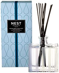Reed Diffuser 175 mL / 5.9 Oz. NEST Fragrances Ocean Mist & Sea Salt Reed Diffuser has a refreshing essence of a gentle ocean mist combined with hints of sea salt, white tea and coconut. The glass vessel are designed to compliment the beauty of its s...