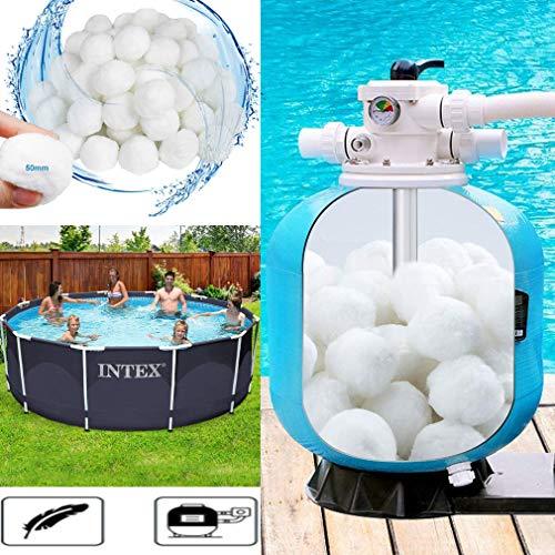 Grunda Pool Filterbälle 200g / 500g / 700g für Leistung von 7kg / 18kg / 25kg Filtersand, Poolreiniger Filterballs für Sandfilteranlagen, geeignet für Pool, schwimmbecken, Filterpumpe & Aquarium