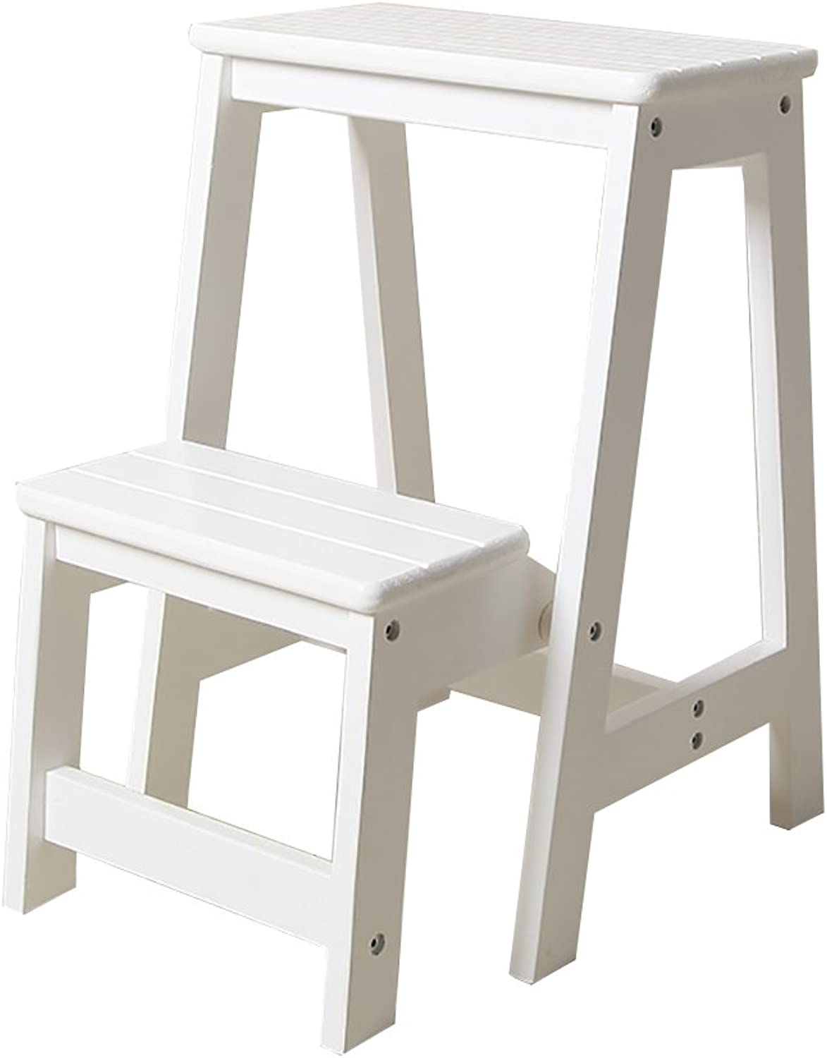 YD Step Stool Wood Folding Step Stool Adults & Kids Kitchen Wooden Ladders Small Foot Stools Indoor Folding Stepladder Portable shoes Bench Flower Rack  &