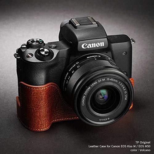 TP Original Leather Camera Body Case for Canon EOS Kiss M/EOS M50 Volcano ボルケーノ キャノン キヤノン 本革 カメラケース レザーケース おしゃれ ミラーレスカメラ デジタルカメラ