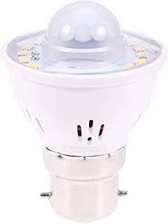 Mobestech B22 Motion Sensor Light Bulb Body Light Bulb Indoor Lighting Bulb White