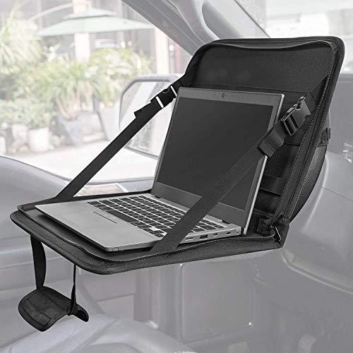 Bolsa plegable multifuncional para el volante del coche, portátil, mesa de trabajo portátil para comer, escribir, para volante, asiento del copiloto, salida de coche, mesa plegable universal
