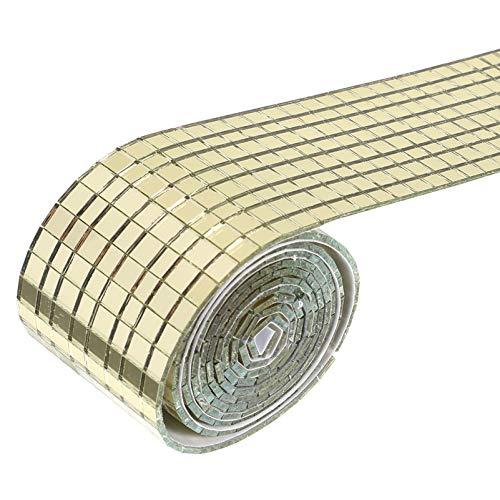 Artibetter Azulejos de mosaico autoadhesivos de cristal cuadrado adhesivo de pared para decoración artesanal DIY decoración para techos de pared