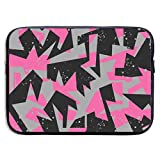 Bolsillo Cuaderno Bolso de Hombro Abstract Urban Geometric Pattern Laptop Sleeve Case Bag Cover for 13-15 Inch Notebook Computer