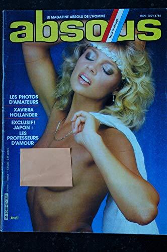 ABSOUS 47 AVRIL 1983 XAVIERA HOLLANDER MICHEL PLAISIR JAPON LES PROFESSEURS D'AMOUR