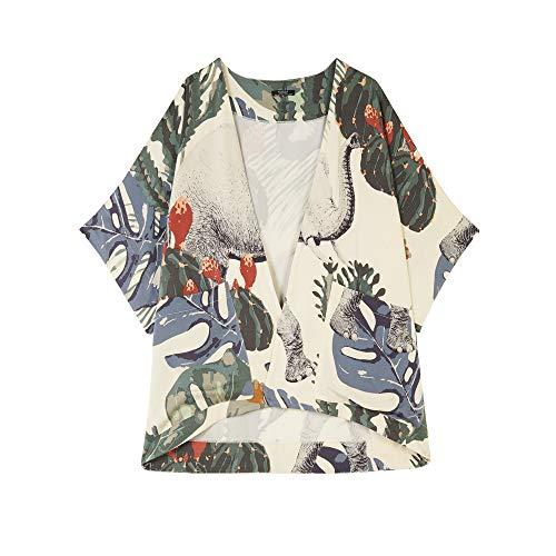 Parfois - Kimono Oversize Estampado Multicolor - Mujeres - Tallas Única - Multicolor