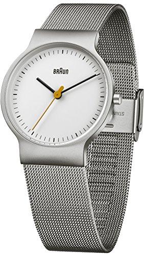 Braun Orologio da polso da uomo classico orologio da polso analogico al...