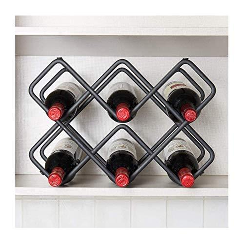 Sywlwxkq Estante de exhibición de Vino para el hogar al revés, Minimalista Moderno Creativo, Estante para Vino Creativo, Adornos, Estante para Copas (tamaño: 8 Botellas)