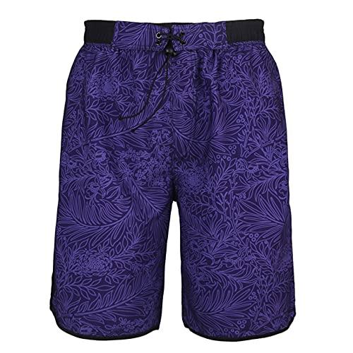 Pantalones Cortos para Hombre Troncos de natación, Playa de Surf Casual Pantalones Cortos de Tablero de seco rápido, Ropa Casual para Hombre Pijamas para Hombre,1,XXL