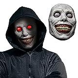 MARYAN Máscara espeluznante de Halloween, máscara de demonios sonrientes, máscara horrible, disfraces de Halloween para mujeres y hombres, accesorios de cosplay horribles