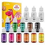 Jelife Colorante Alimentario 14 Colores Food colouring Dye Colorante Comestible Liquido Set para colorear Reposteria Bebidos Helados