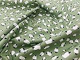 Baumwoll-Popeline, Schaf-Motiv, 110 cm, 100 % Baumwolle,