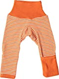 Cosilana Baby Hose lang- mit Kratzschutz am Bein 86/92 Safran-Orange Geringelt 129