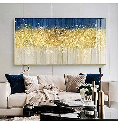 KWzEQ Imprimir en Lienzo Decoración de la Pared del árbol de Oro para la Sala de Arte de la Pared Imagen de la casa pósters obra50x100cmPintura sin Marco