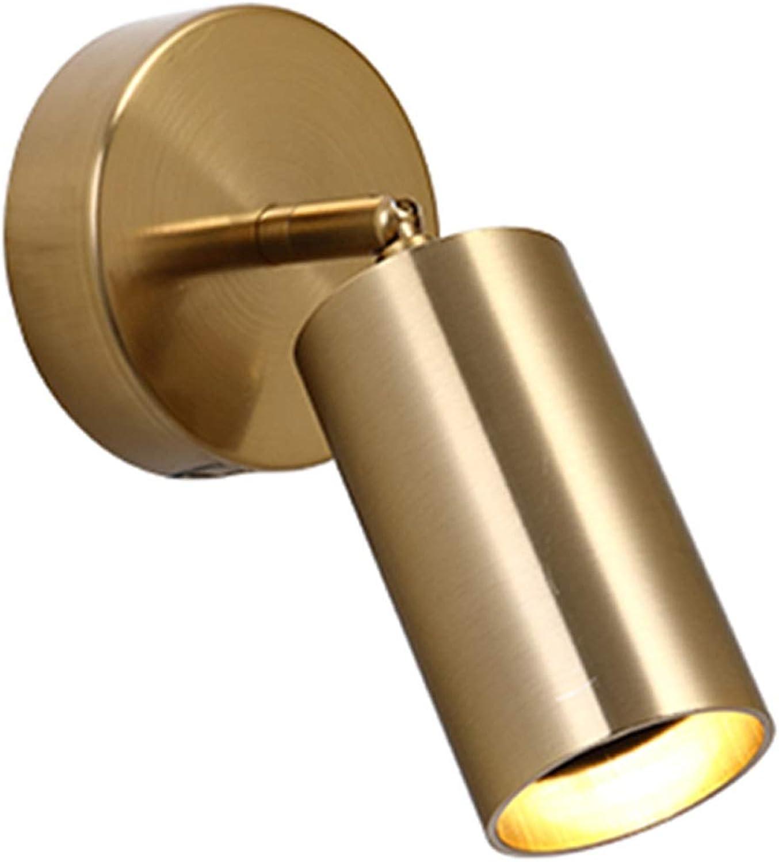 LED Wandleuchte, Scheinwerfer Nachttischlampe Lesen Sicherheit Balkon Gang Treppe Schalter Dekoration Einzelkopf (Farbe   D)