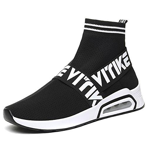 VITIKE Kinder Damen Sneakers Jungen Mädchen Sneaker Damen Sportschuhe Outdoor Schuhe Jungen Turnschuhe Laufschuhe Schnürer Freizeit Schnürer Sportschuhe Kinder Sneaker, 1-schwarz, 40 EU