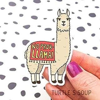 No Problem Llama Vinyl Sticker, No Prob-Llama, Alpaca, Cute Phone Sticker, Gift for Friend, Llama Decal, Tan, Planner Stickers, Llama Art